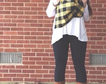 Sunny Lumberjack Scarf Vest 5-in-1