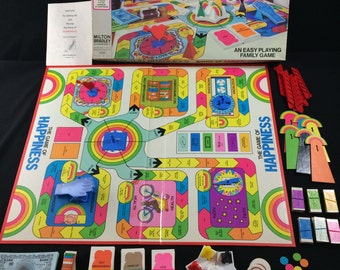 1972 Game Of Happiness by Milton Bradley 100% Complete