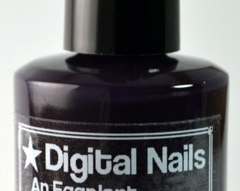 An Eggplant for a Pillow, inspired by dumpster-diving for gifts, by Digital Nails