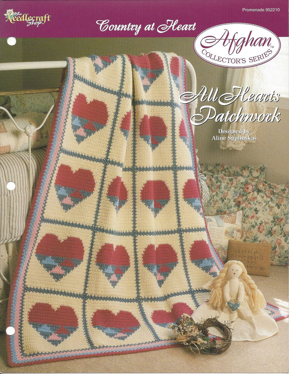 All hearts patchwork afghan collectors series the needlecraft 199 bankloansurffo Choice Image