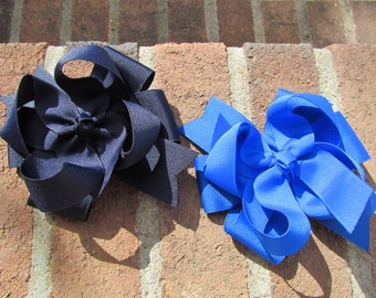 Two layer Hair Bow-You Choose Color
