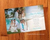 Blended Photo Collage Wedding Invitation - Large size, perfect for destination wedding or reception only invite - Fun & Unique - Custom
