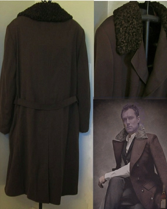 Men's custom made winter coat x extra large 1950s style