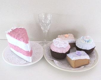High Tea Felt Food Set, Cupcakes, Cakes Desserts