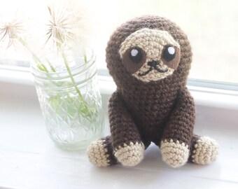 Sloth Stuffed Animal - Crochet Sloth - Custom Sloth Toy - Sloth Plush