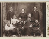 Victorian Cabinet Photo, 1800s: Family by S.R. Page Studio, Lawrence, Mass. (56380)