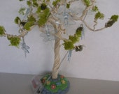 Enchanting ....Dragonfly Lights Fairy Garden Tree.....Fantasy....OOAK...One of a Kind!