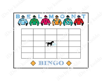 Belmont Stakes BINGO Game - Belmont Party Game - DIY Instant Download