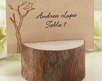 Wedding Place card holders, rustic wedding decoration, rustic placecard holders, Wedding supplies