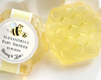 Honey-Scented Honeycomb Soap (Set of 30) Personalization Available- Baby Shower Favors, Personalized Favors, Baby Shower Decorations
