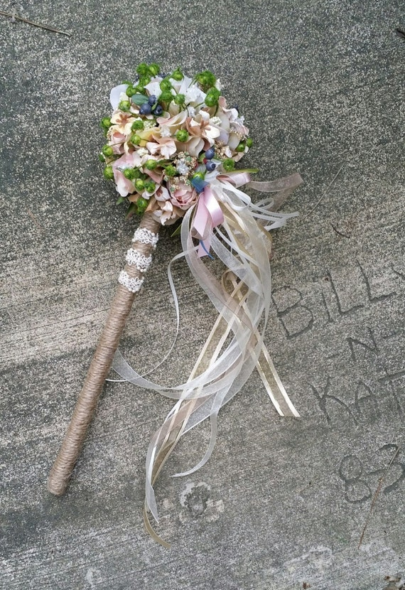 Custom Order For Flower Girl Wand Blush Pink By