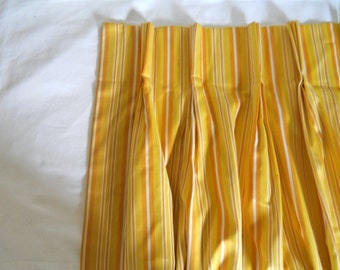 Yellow Curtain Panel Yellow Drape 60s Decor Yellow Decor Pinch Pleat Drape Orange Curtain 70s Curtain 1970s Living Room Curtain Window