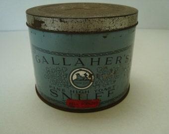 A DUBLIN FIND:  Vintage Gallaher's Snuff Tin