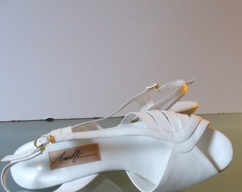 Amalfi Made in Italy Slingback White Dress Shoes Size 8M