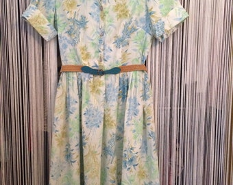 Vintage Women's Floral Dress by Sears and Roebuck S/MED