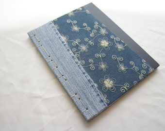 Handcrafted, One-of-a-kind blank book (Stab binding)