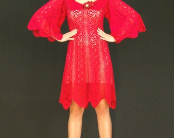 Exclusive crochet lace dress, ready to ship, discount - 40%, the finished product in a single original.