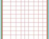 Happy Planner - Bill Tracker Insert - Corner Crosshatch