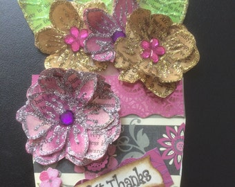Gorgeous, colorful flower pot card with note card insert for any reason or season..