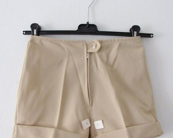 70s NOS High Waist Micro Shorts by Ylläs, XS / W26 // Vintage Nordic Tan Nude Hot Pants