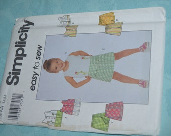 Simplicity 8723 Childs Top and Shorts Sewing Pattern - UNCUT - Sizes 3 4 5 6
