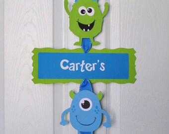 Monster Bash Door Sign, Monster Birthday Party Door Sign