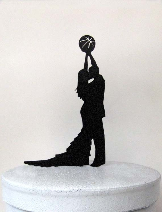 basketball couple wedding cake topper wedding cake topper basketball wedding 11101