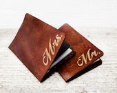 Passport Covers Personalized Gift Set, Mr and Mrs SET OF TWO Leather Anniversary Gift, Rustic Wedding, His and Hers Destination Wedding Gift