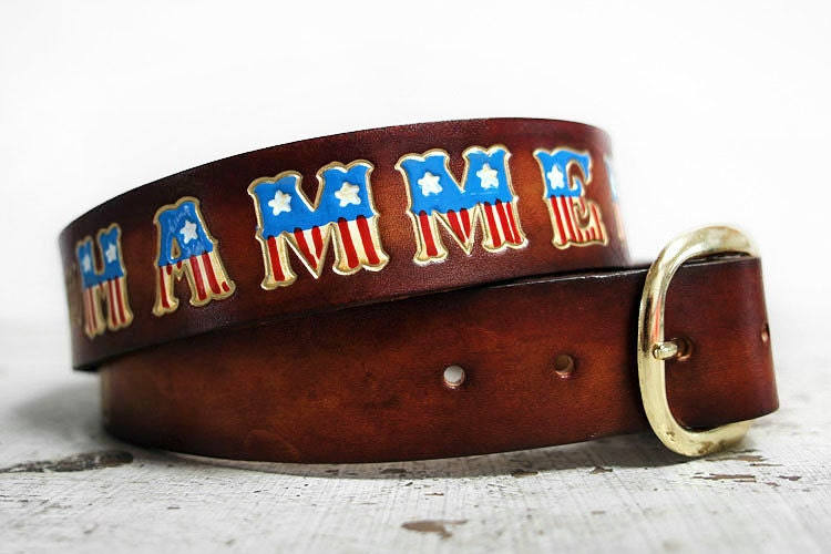personalized leather belt leather name belt with american