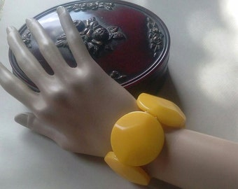 Vintage/Accessories/Jewelry/Bracelet/Yellow/Costume/Stretch