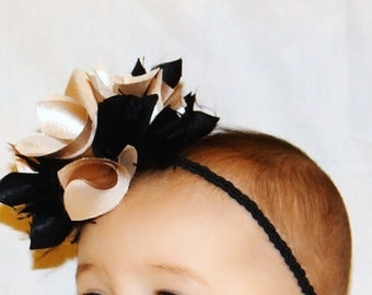 Baby Headband, Infant Flower Headband, Fabric Flower Headband, Baby Hair Accessory