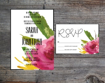 Printable Wedding Invitation - Made to Order - Floral