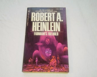 "Vintage Science Fiction Paperback, ""Farnham's Freehold"" by Robert Heinlein, 1971."