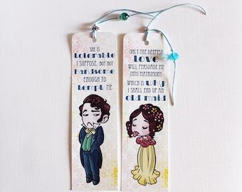 Bookmarks: Elizabeth Bennet & Mr Darcy, Pride and Prejudice