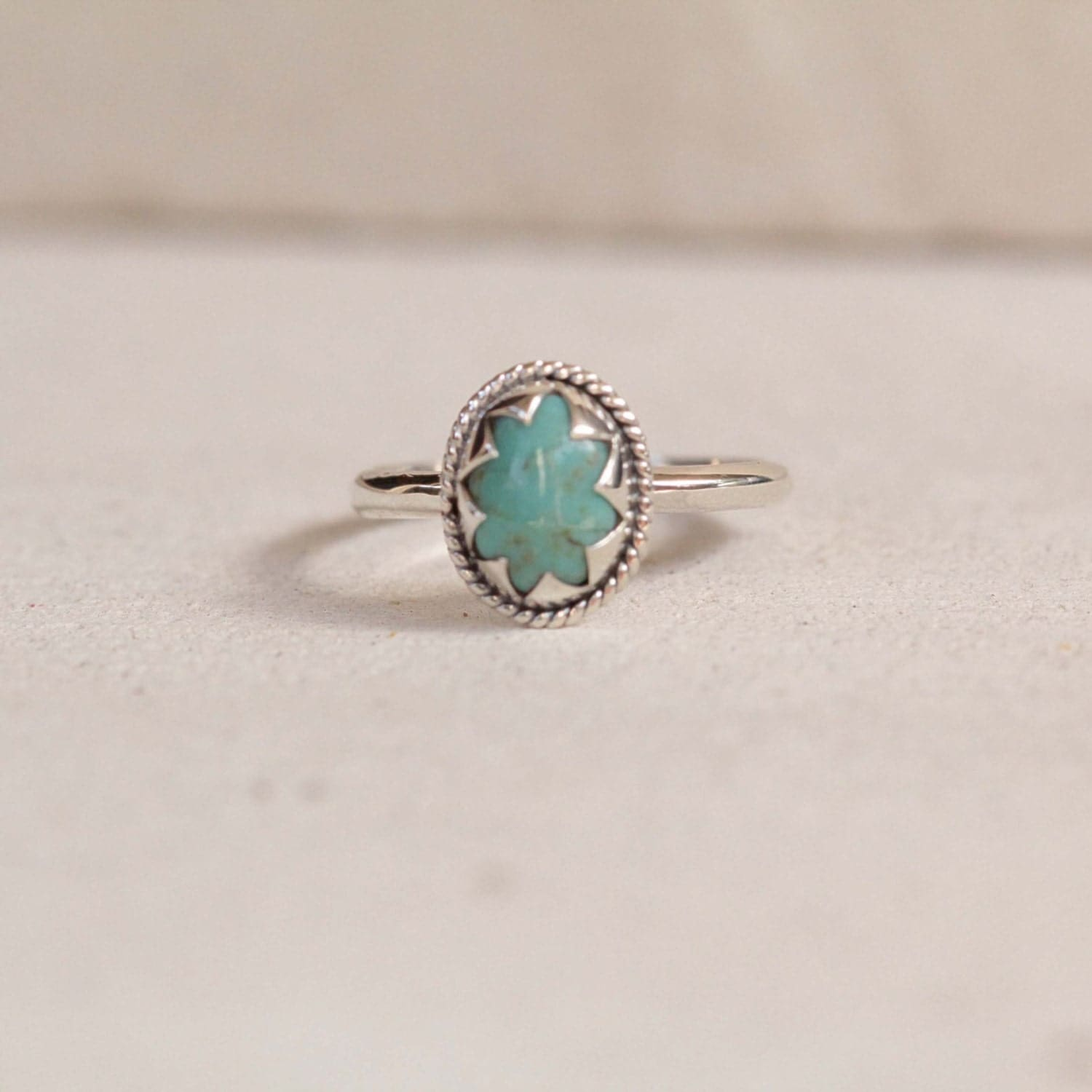 simple turquoise sterling silver ring ring gemstone