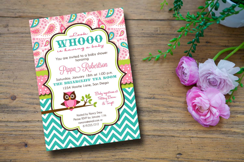 Owl baby shower girl invitation owl baby shower invitations baby free owl baby shower girl invitation filmwisefo