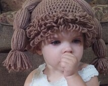 cabbage patch inspired crochet hat