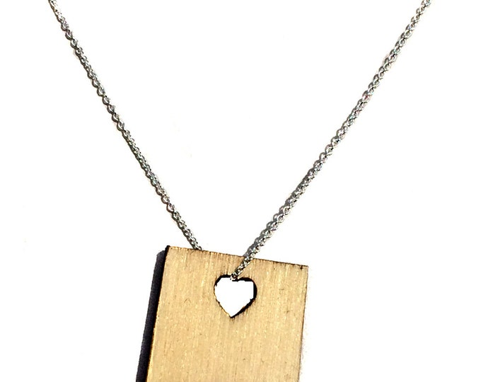 New Mexico States of Love Necklace NM state jewelry