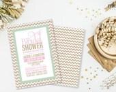 Chevron Bridal Shower Invitation, Bridal Shower, Chevron Invitation, Bridal Invitation, Printable Invite, #30