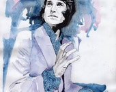 Ray Davies of The Kinks, ORIGINAL watercolour painting, OOAK