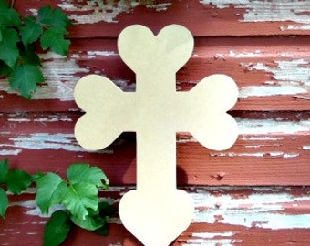 Unfinished MDF Wooden Cross #15