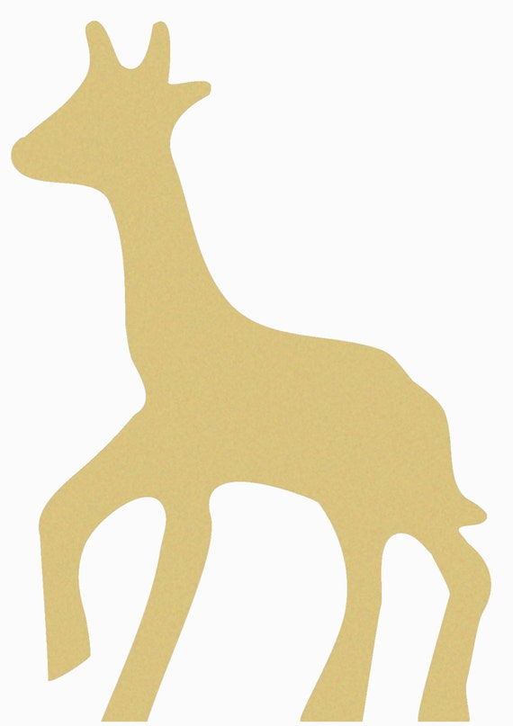 GIRAFFE Unfinished Wooden Craft Shape Do-It-Yourself