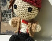 Crocheted 11th Doctor Doll - Classic Outfit