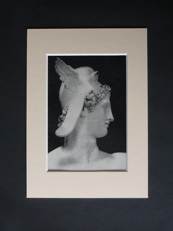 Antique Ancient Greek Mythology Print Of Perseus Mythological