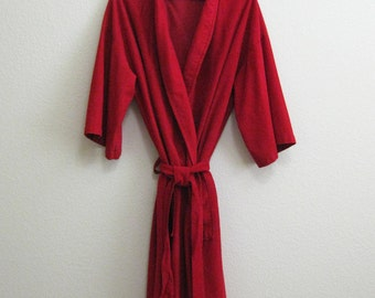 Mad Men Red Robe Mod Medium Mens Red Robe Mad Men Robe Soft - Idle Hour Enro