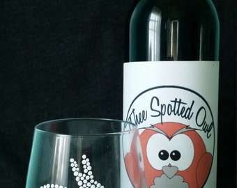 Stemless Bunny Wine Glasses, Great for Easter and Spring!
