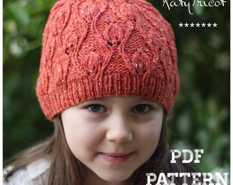 Foliage Hat Knitting Pattern (Sizes: Toddler through Adult)