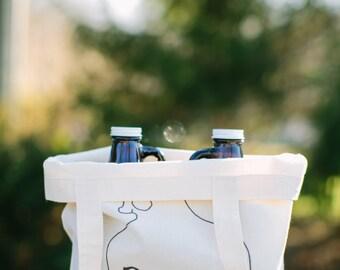 Beer Bag, Beer Bottle,  present, men's gift, father's day present, husband