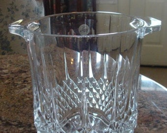 Cristal D' Argues Crystal Ice Bucket With Longchamp Pattern