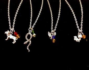 Simple Harry Potter Hogwarts House Charm Necklace